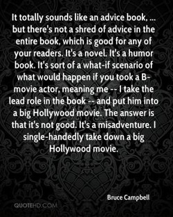 It totally sounds like an advice book, 