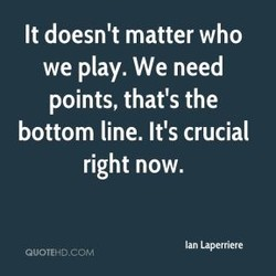 It doesn't matter who 