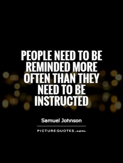 PEOPLE NEED TO BE 