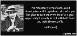 This American system of ours... call it 