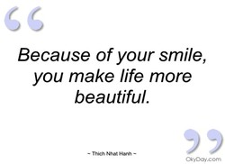 Because of your smile, 