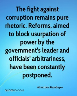 The fight against 