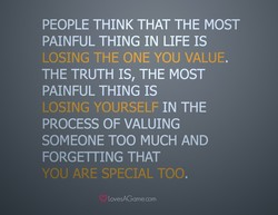 PEOPLE THINK THAT THE MOST 