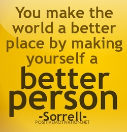 You make the 