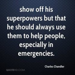 show off his 