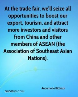 At the trade fair, we'll seize all 