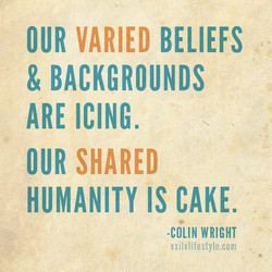 OUR VARIED BELIEFS 