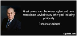Great powers must be forever vigilant and never 