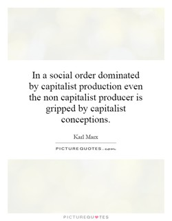 In a social order dominated 