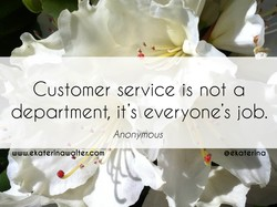 Customer service is not a 