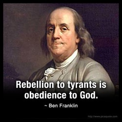 Rebellion to tyrants is 