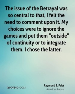 The issue of the Betrayal was 