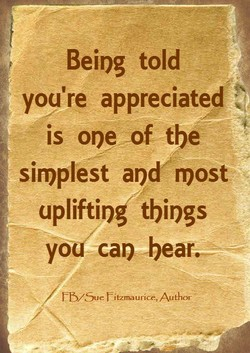 Being told 