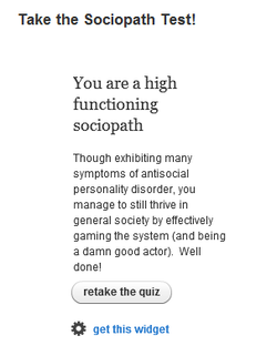 Take the Sociopath Test! 