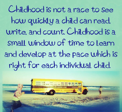 CbiLdbood is not a race to See 