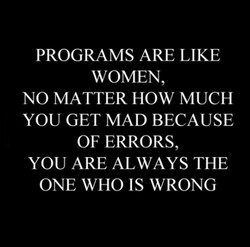 PROGRAMS ARE LIKE 