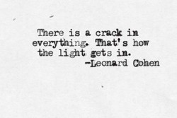 There is a crack in 