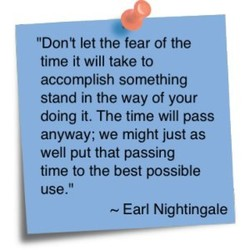 'Don't let the fear of the 