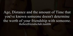 Age, Distance and the amount of Time that 