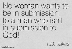 No woman wants to 