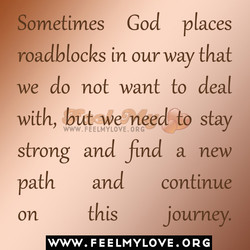 Sometimes God places 