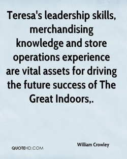 Teresa's leadership skills, 
