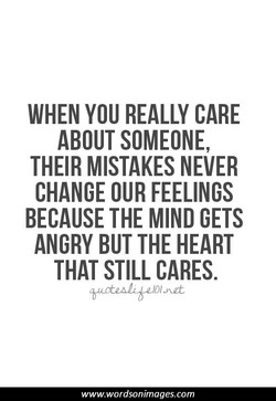 WHEN YOU REALLY CARE 