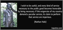 I wish to be useful, and every kind of service 