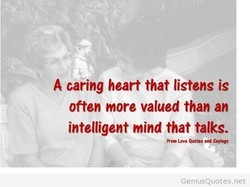 A caring heart that listens is