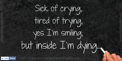 Sicz of crying, 