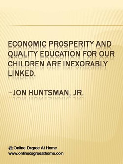 ECONOMIC PROSPERITY AND 