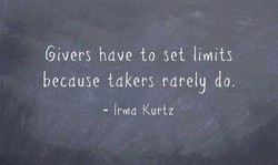 Givers hdve to set limits 