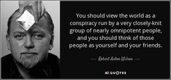 You should view the world as a 