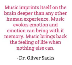 Music imprints itself on the 