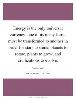 Energy is the only universal 