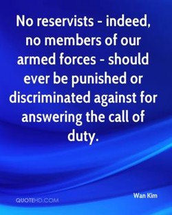 No reservists - indeed, 