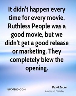It didn't happen every 