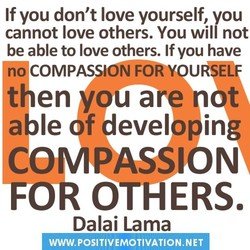 If you don't love yourself, you 