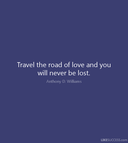 Travel the road of love and you 