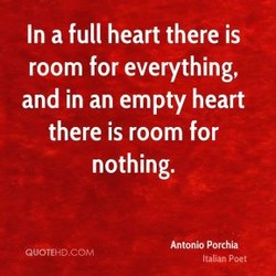 In a full heart there is 