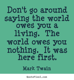 Don't go around 