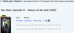 I love you. I know has been found in 27 phrases from 26 movies and series 