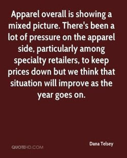 Apparel overall is showing a 