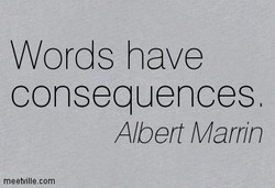 Words have 