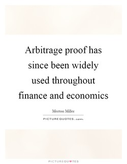 Arbitrage proof has 