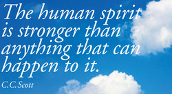 The human spirit'¯ 