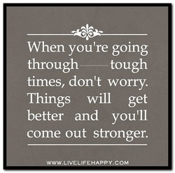 When you're going
