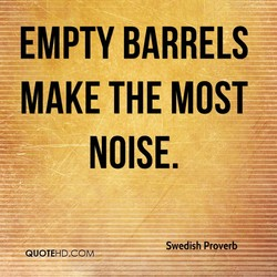EMPTY BARRELS 