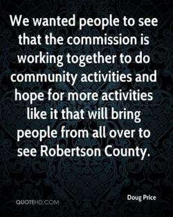 We wanted people to see 