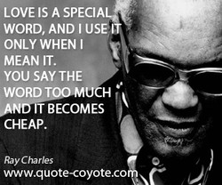 LOVE IS A SPECIA 